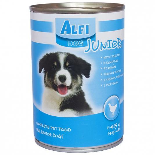 Alfi Dog Junior csirke 415g